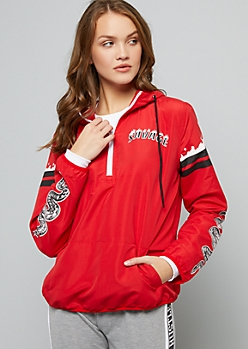 Red Snake Savage Half Zip Windbreaker