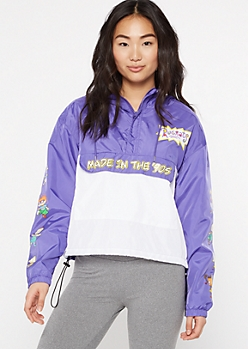 Purple Rugrats Graphic Pullover Windbreaker