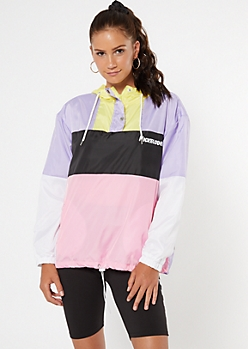 Lilac Colorblock SpongeBob Pullover Windbreaker