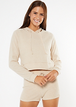 Taupe Boxy Super Soft Hacci Hoodie