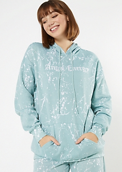 Blue Angel Energy Embroidered Boyfriend Hoodie