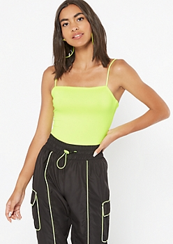Neon Yellow Super Soft Bungee Bodysuit