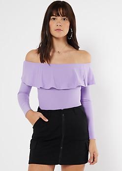 Lavender Flounce Super Soft Bodysuit