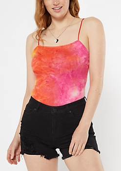 Pink Tie Dye Super Soft Bungee Bodysuit