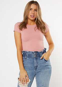 Pink Super Soft Tee Bodysuit