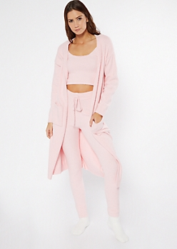 Light Pink Cozy Teddy Cardigan