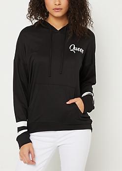 Queen Black Varsity Hoodie