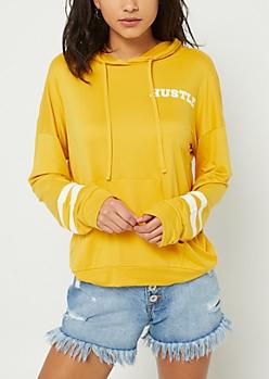 Hustle Dark Yellow Varsity Hoodie