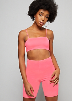 Neon Pink Cami Strap Tube Top