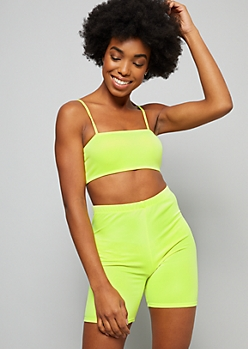 Neon Green Cami Strap Tube Top