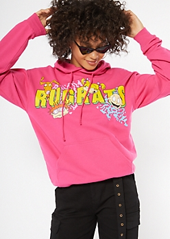 Hot Pink Rugrats Graphic Hoodie