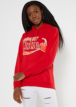 Red Cherry Coke Graphic Hoodie