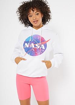 White Galaxy NASA Graphic Hoodie