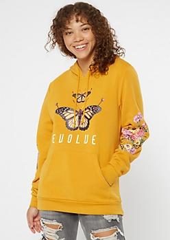 Mustard Evolve Butterfly Hoodie