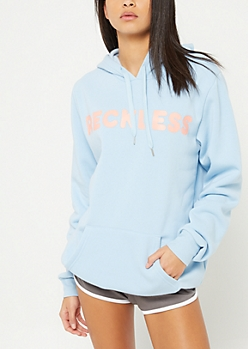 Blue Reckless Long Length Hoodie