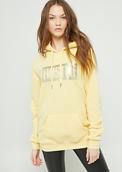 Light Yellow Hustle Hoodie