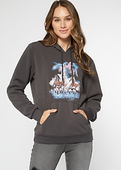 Black Queen Of Everything Horse Hoodie