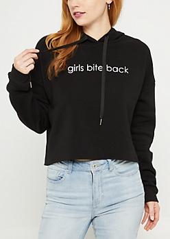 Girls Bite Back Fleece Crop Hoodie