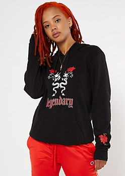 Black Legendary Dragon Graphic Hoodie