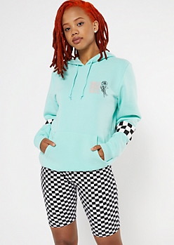 Mint Checkered Limited Edition Graphic Hoodie