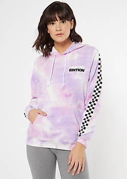 Purple Tie Dye Limited Edition Graphic Hoodie
