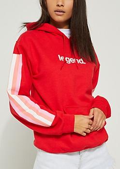 Legend Red Stripe Hoodie
