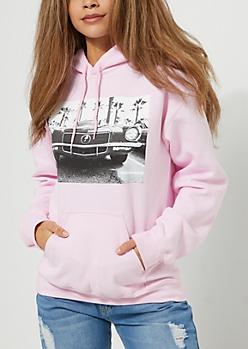 Pink Car Hoodie