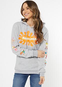 Gray Nickelodeon Graphic Hoodie