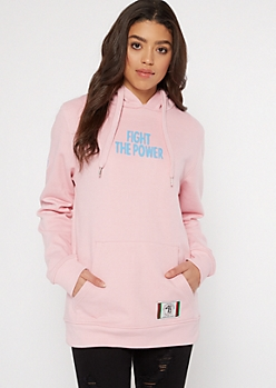 Do The Right Thing Pink Fight The Power Hoodie
