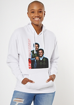 Best Friends Step Brothers Portrait Graphic Hoodie