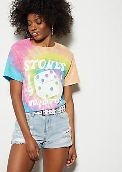Rainbow Tie Dye 1972 Rolling Stones Tee