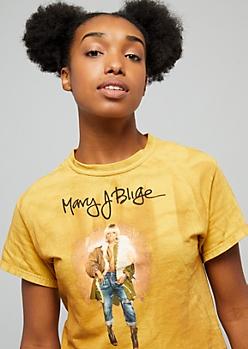 Mustard Mary J Blige Skimmer Tee