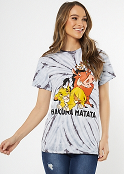 Black Tie Dye Lion King Graphic Tee