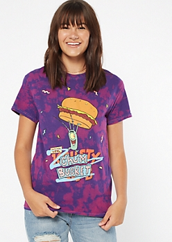 Purple Tie Dye Chum Bucket Graphic Tee