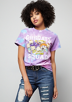 Purple Tie Dye Rugrats Squad Graphic Tee