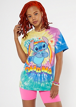 Rainbow Ohana Stitch Graphic Tee