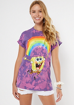Tie Dye SpongeBob Rainbow Graphic Tee