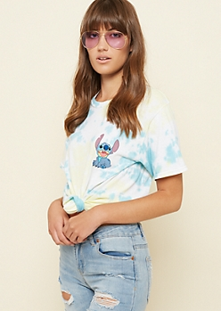 Yellow Tie Dye Stitch Pocket Tee