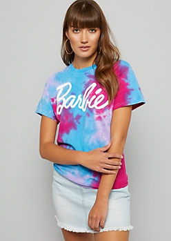 Light Blue Tie Dye Barbie Oversized Tee