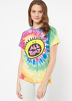 Rainbow Tie Dye All That Graphic Tee