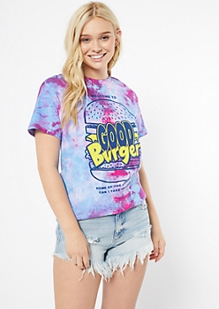 Purple Tie Dye Good Burger Graphic Tee