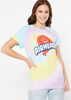Pastel Tie Dye Air Heads Graphic Tee