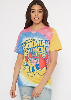 Rainbow Tie Dye Hawaiian Punch Graphic Tee