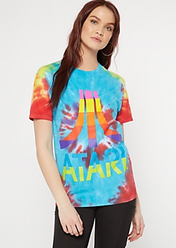 Rainbow Tie Dye Atari Graphic Tee