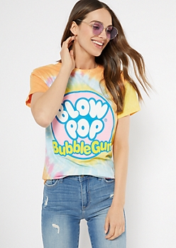 Rainbow Tie Dye Blow Pop Graphic Tee