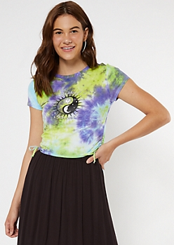 Tie Dye As Above Celestial Cinched Side Tee