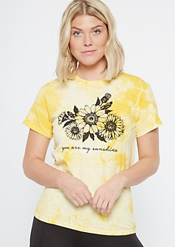 Yellow Sunshine Sunflower Graphic Tee