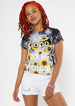 Good Vibes Sunflower Graphic Tee