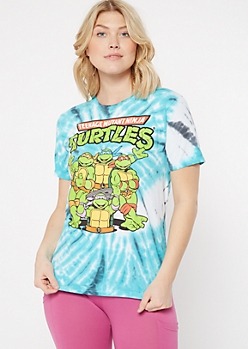 Blue Tie Dye TMNT Graphic Tee
