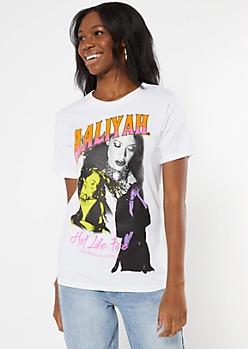 White Hot Like Fire Aaliyah Graphic Tee